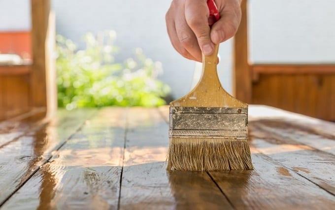 Varnishing Wooden Table