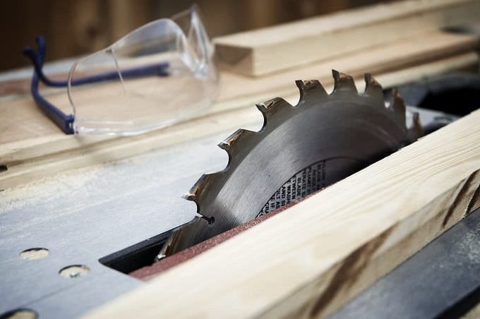 Close Up Of Table Saw