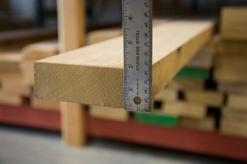 Thicker wood costs more