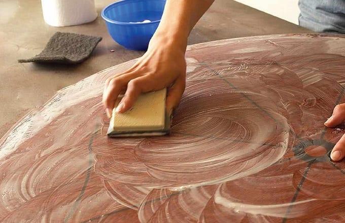 Painted Wood Wet Sanding