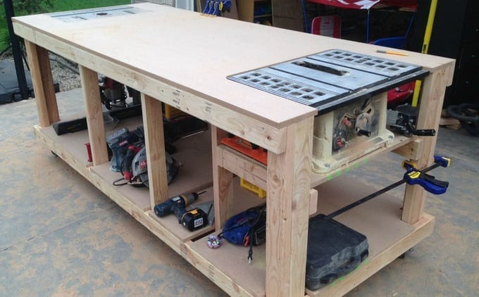 Build A Diy Woodworking Workbench With Perfect Dimensions