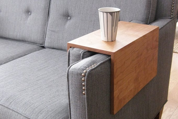 DIY Armchair Cup Holder