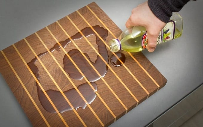 Oiling Old Cutting Board