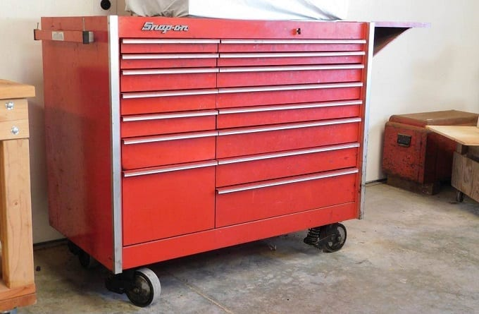 Large Red Rolling Toolbox