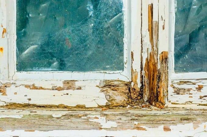 Old Rotten Wood Frame